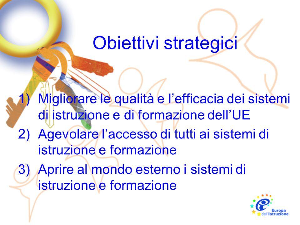 Obiettivi strategici Migliorare le qualità e l'efficacia dei sistemi di istruzione e di formazione dell'UE.