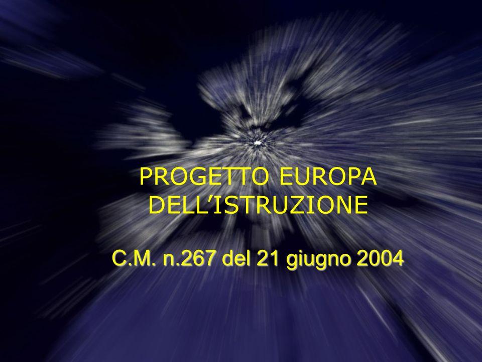 PROGETTO EUROPA DELL'ISTRUZIONE