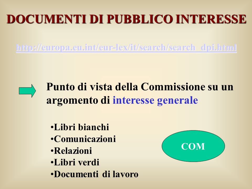 DOCUMENTI DI PUBBLICO INTERESSE