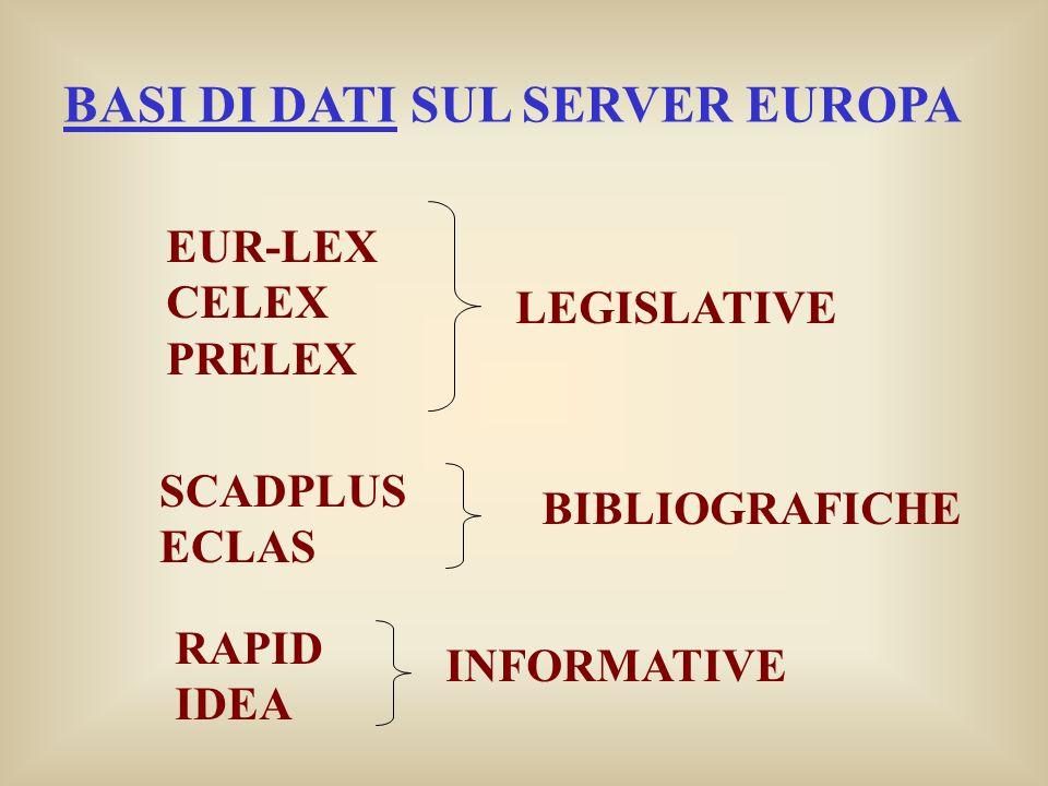 BASI DI DATI SUL SERVER EUROPA