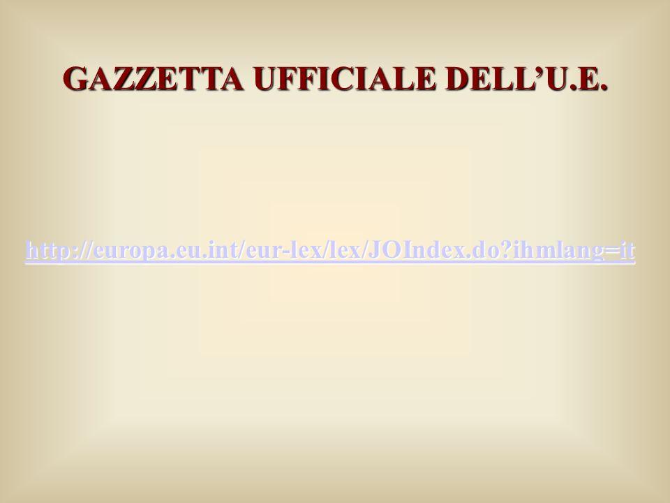 GAZZETTA UFFICIALE DELL'U.E.