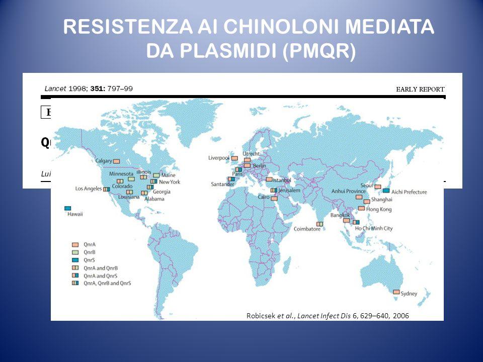 RESISTENZA AI CHINOLONI MEDIATA