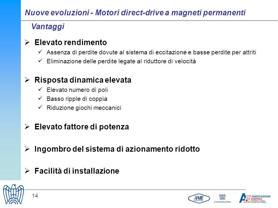 Nuove evoluzioni - Motori direct-drive a magneti permanenti