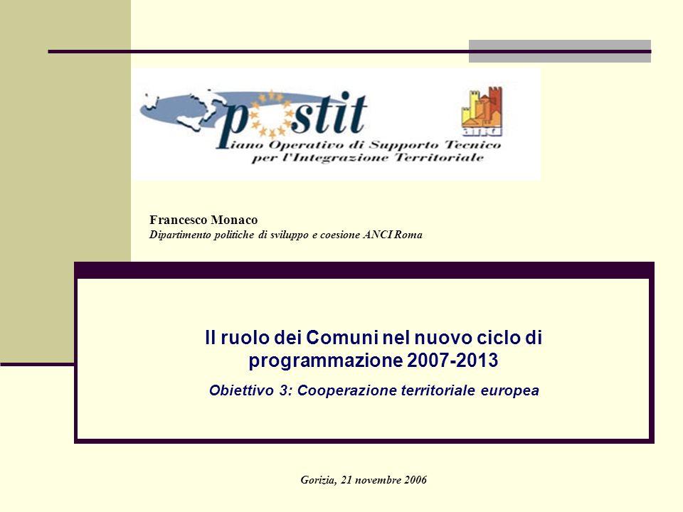 Il ruolo dei Comuni nel nuovo ciclo di programmazione 2007-2013