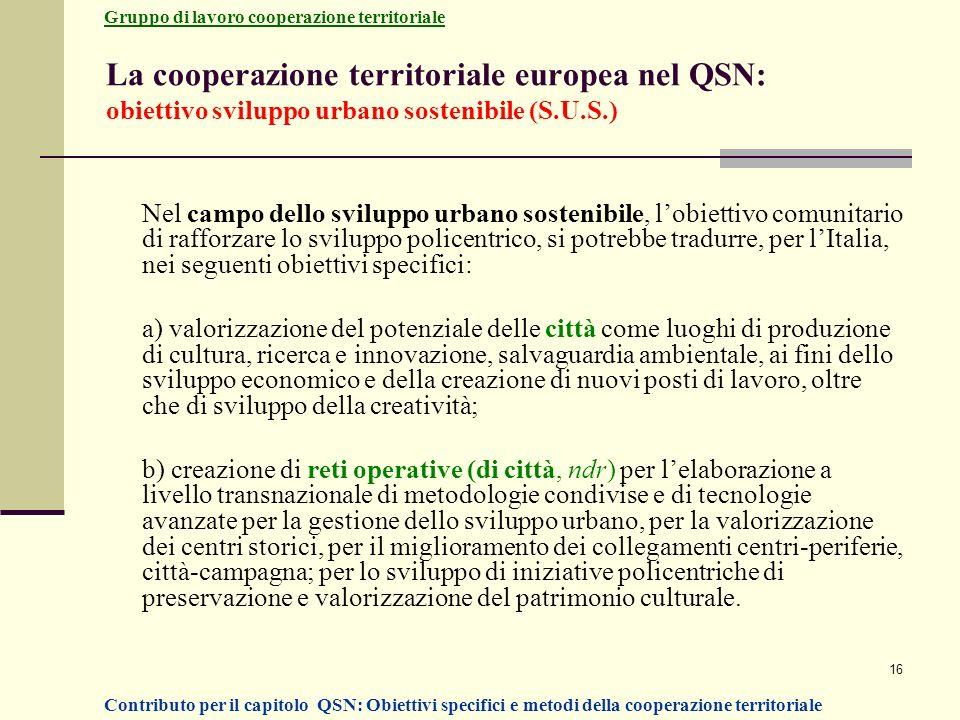 Gruppo di lavoro cooperazione territoriale