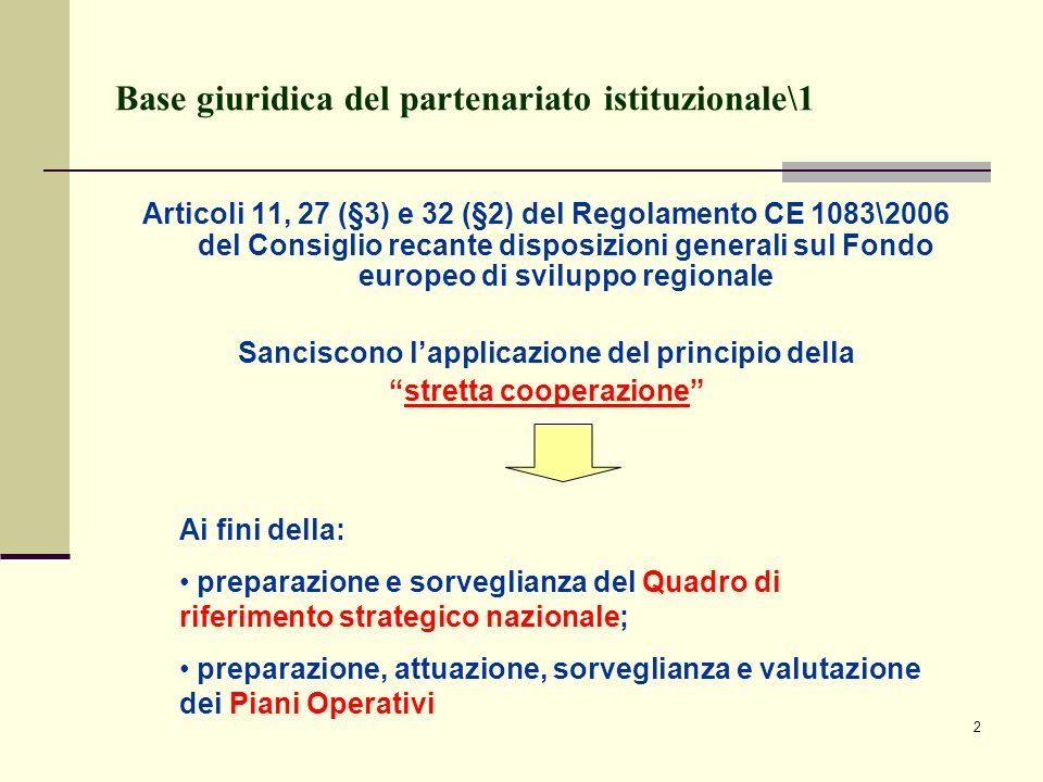 Base giuridica del partenariato istituzionale\1