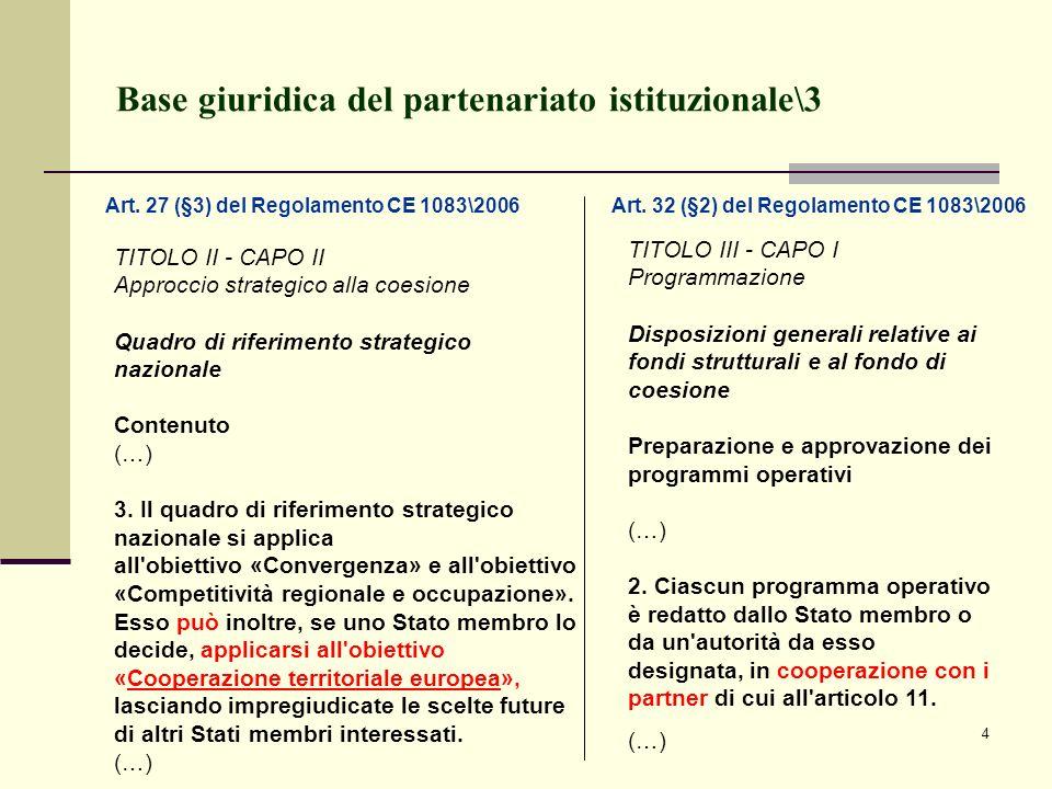 Base giuridica del partenariato istituzionale\3