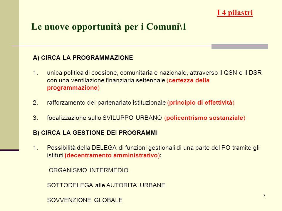 Le nuove opportunità per i Comuni\1