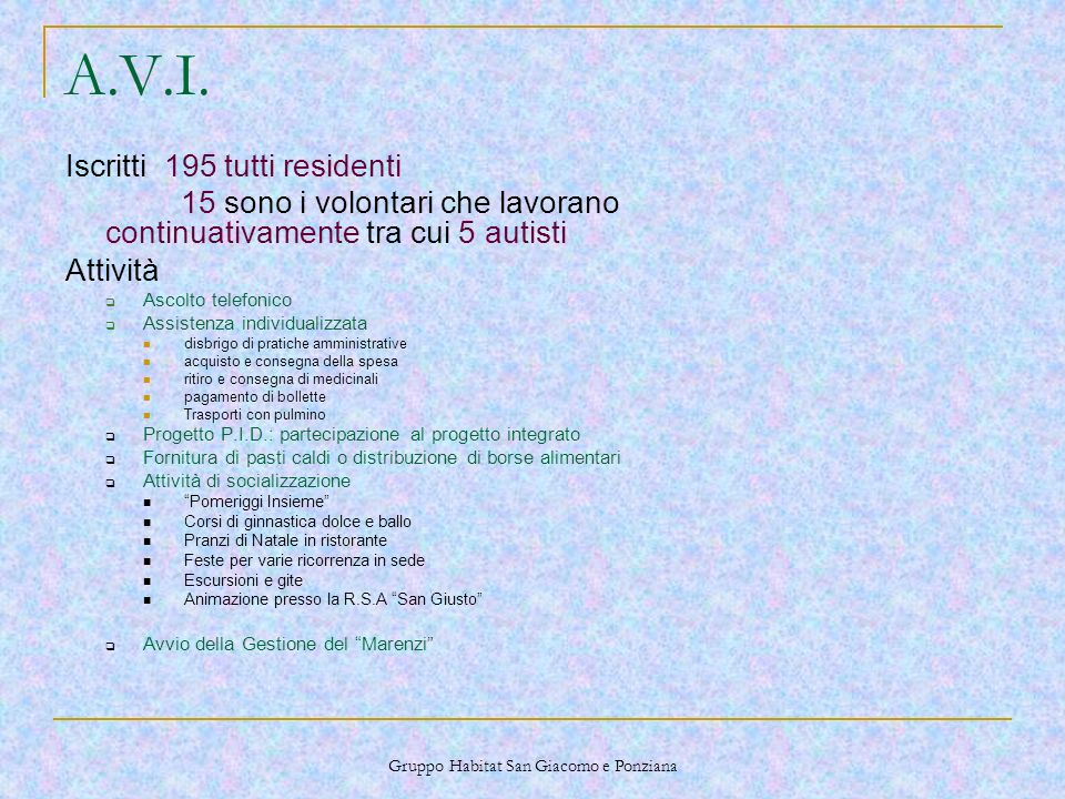 Gruppo Habitat San Giacomo e Ponziana