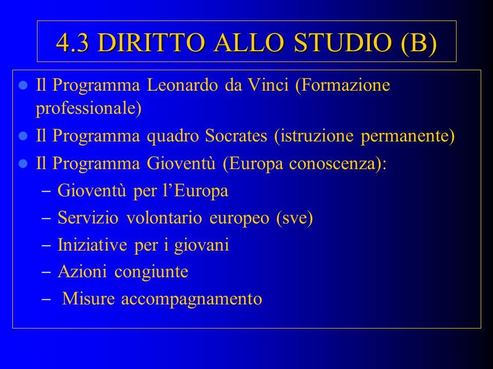 4.3 DIRITTO ALLO STUDIO (B)