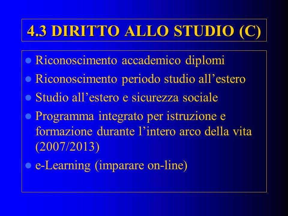 4.3 DIRITTO ALLO STUDIO (C)