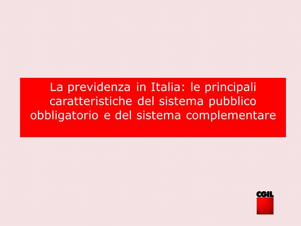 La previdenza in Italia: le principali caratteristiche del sistema pubblico obbligatorio e del sistema complementare