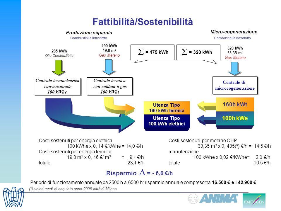 Fattibilità/Sostenibilità