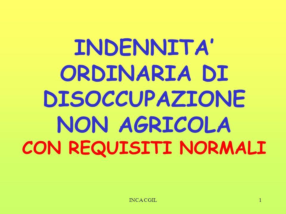 INDENNITA' ORDINARIA DI DISOCCUPAZIONE NON AGRICOLA