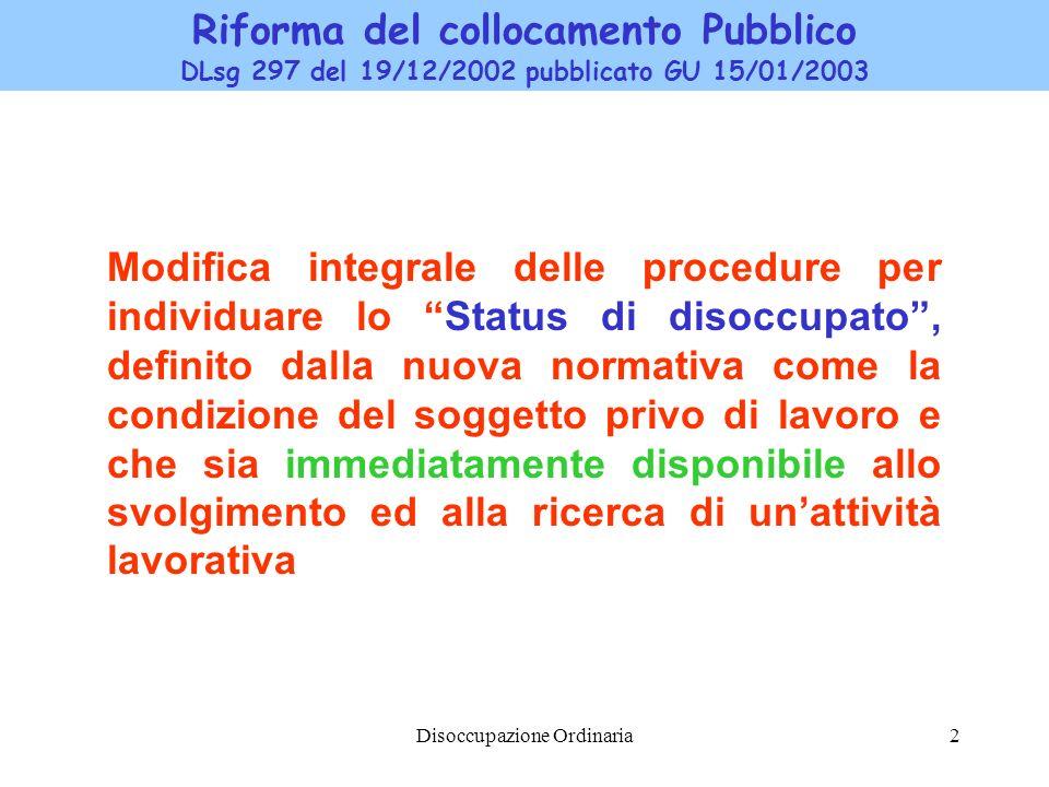Riforma del collocamento Pubblico