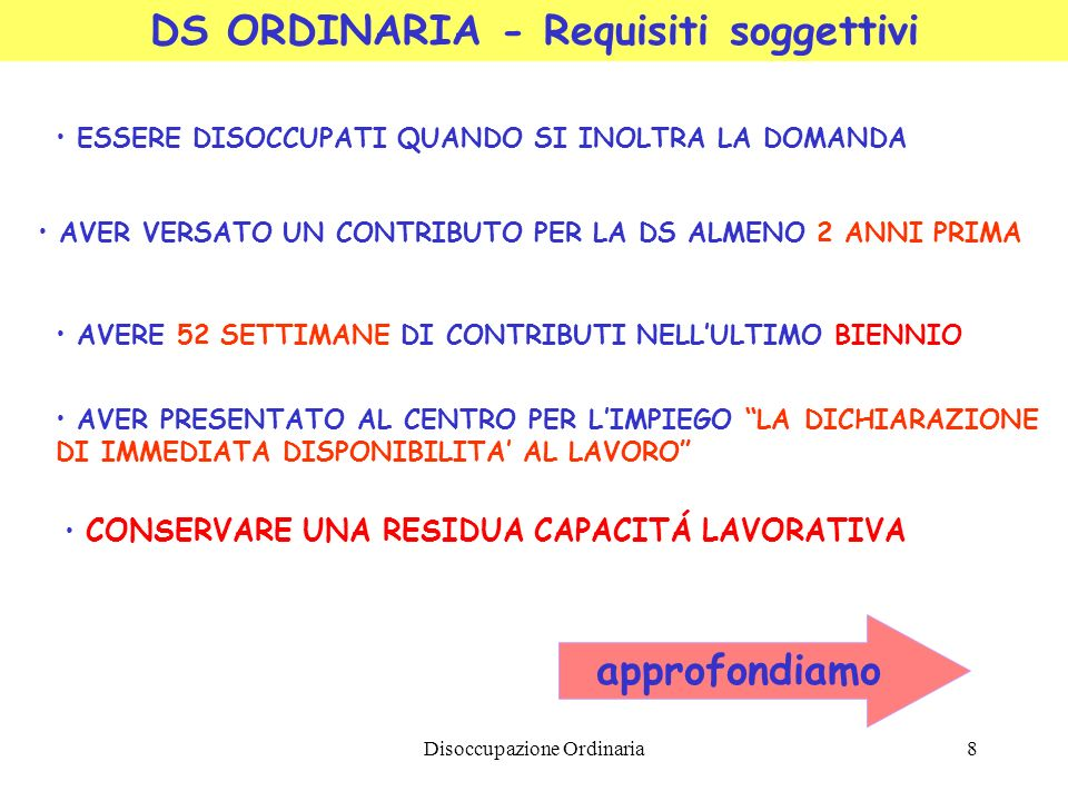 DS ORDINARIA - Requisiti soggettivi