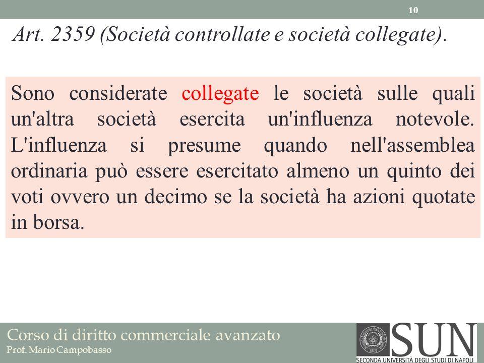 Art. 2359 (Società controllate e società collegate).