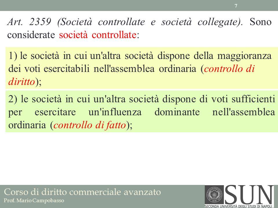 Art. 2359 (Società controllate e società collegate)