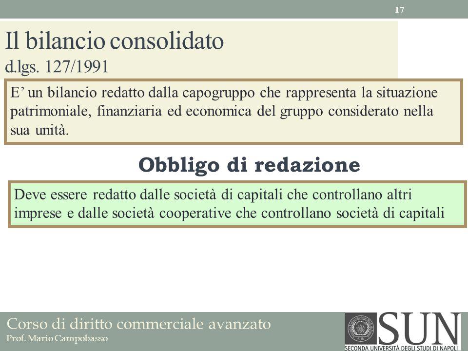 Il bilancio consolidato d.lgs. 127/1991