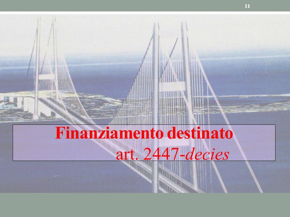 Finanziamento destinato art. 2447-decies