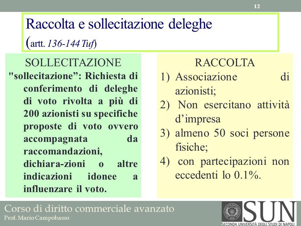 Raccolta e sollecitazione deleghe (artt. 136-144 Tuf)