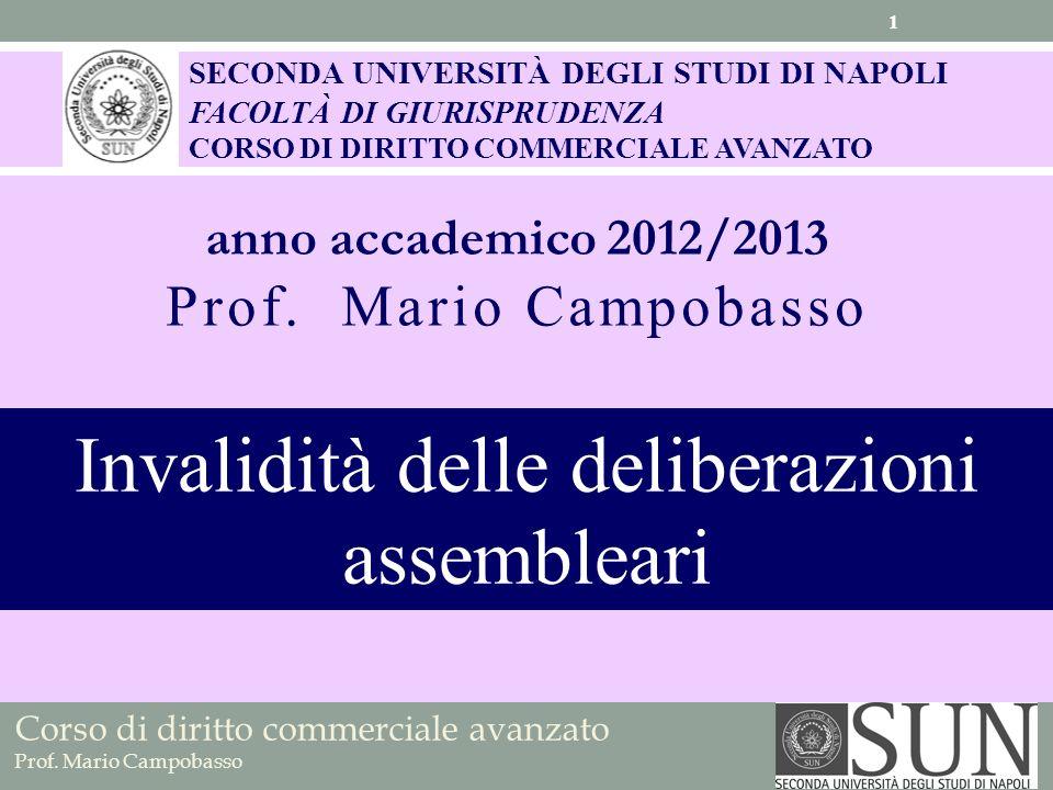 Invalidità delle deliberazioni assembleari