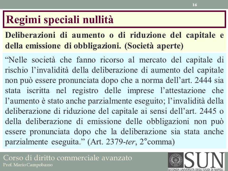 Regimi speciali nullità