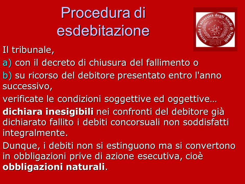 Procedura di esdebitazione