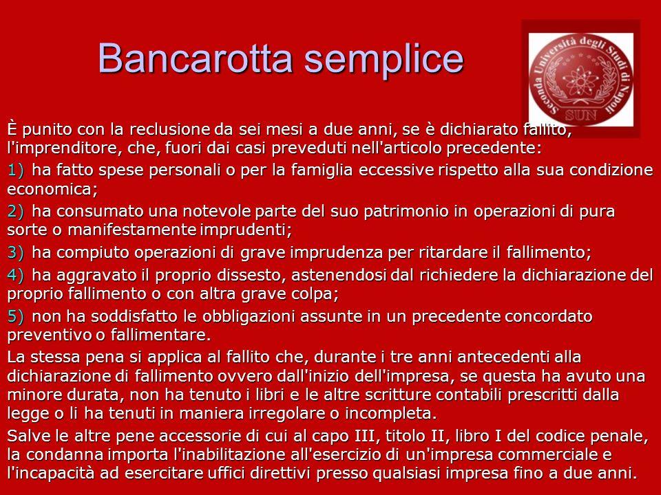 Bancarotta semplice