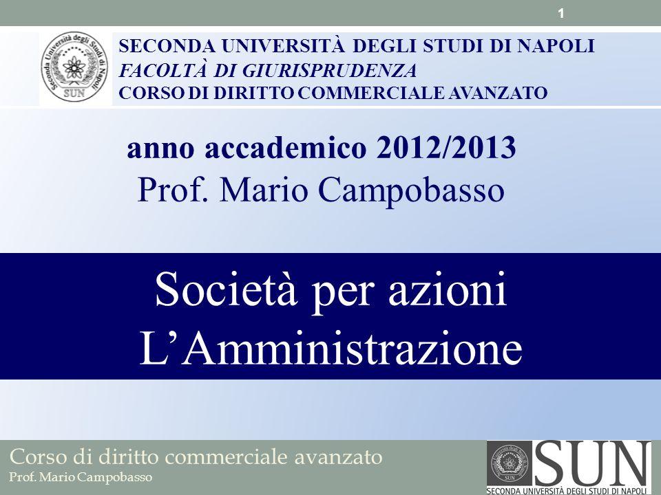 Società per azioni L'Amministrazione Prof. Mario Campobasso