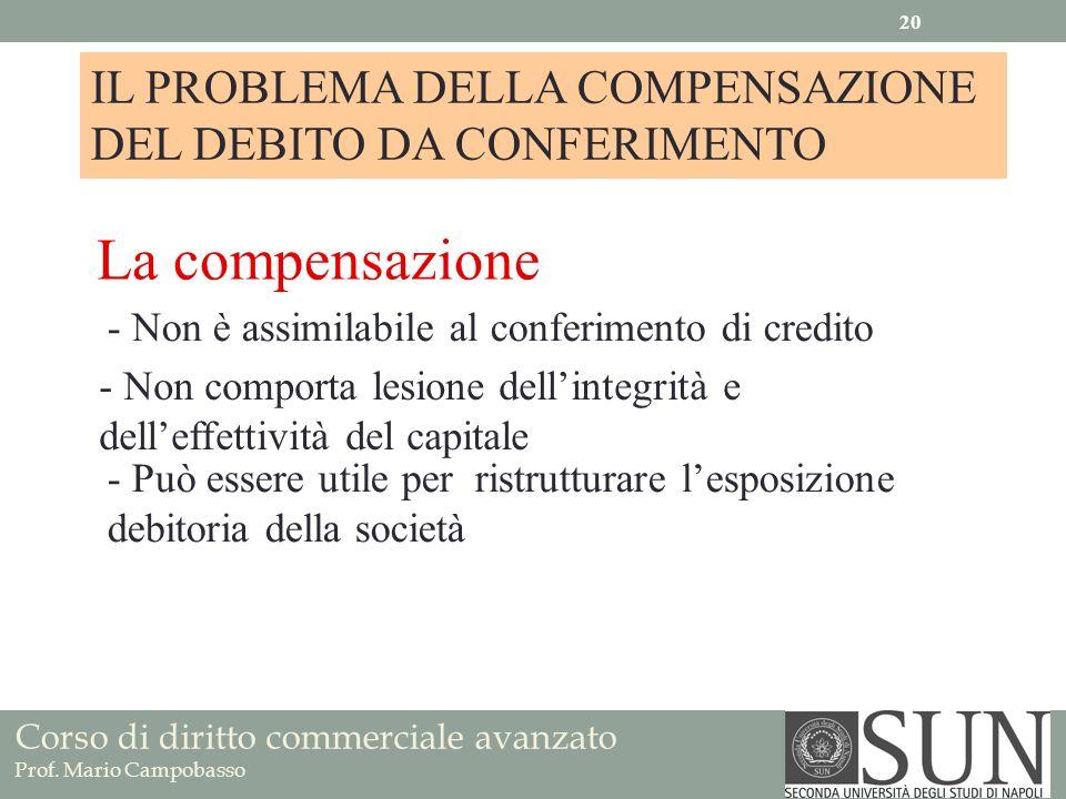 IL PROBLEMA DELLA COMPENSAZIONE DEL DEBITO DA CONFERIMENTO