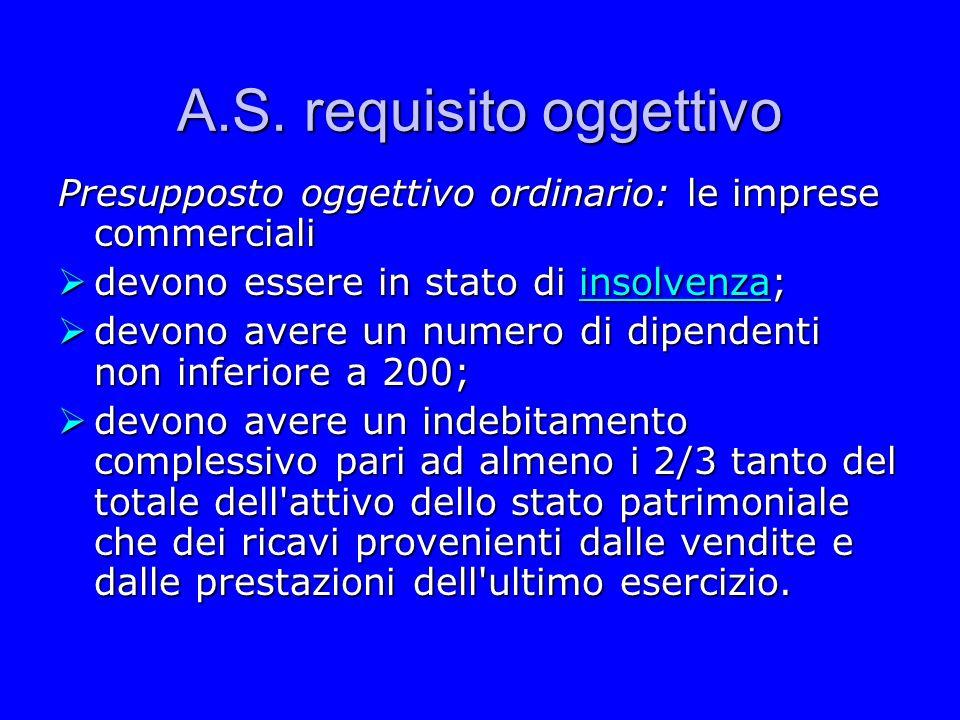 A.S. requisito oggettivo