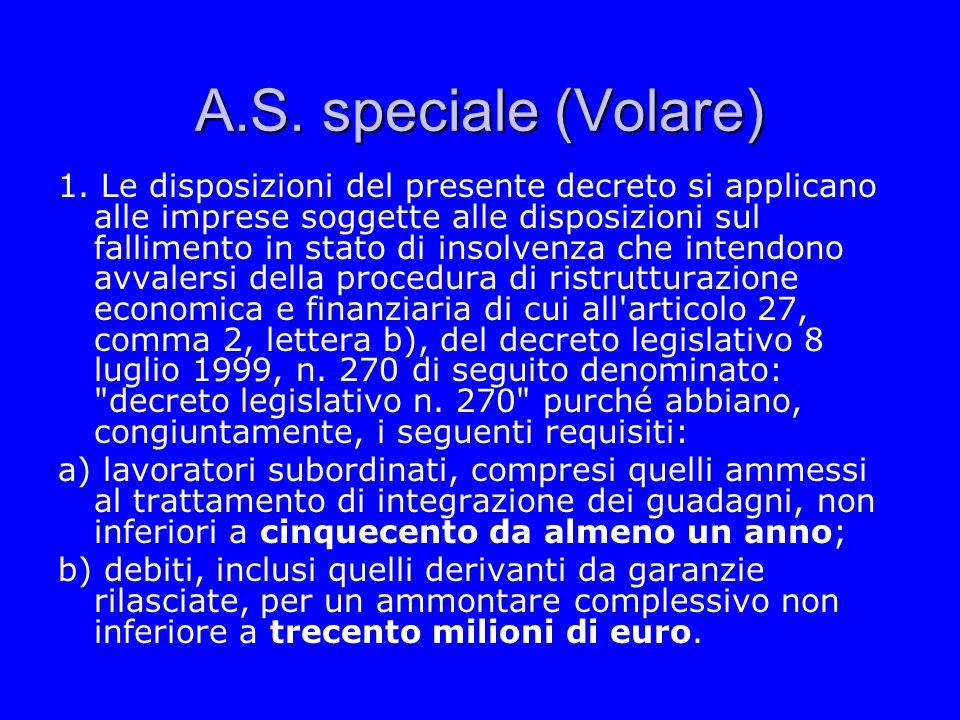 A.S. speciale (Volare)