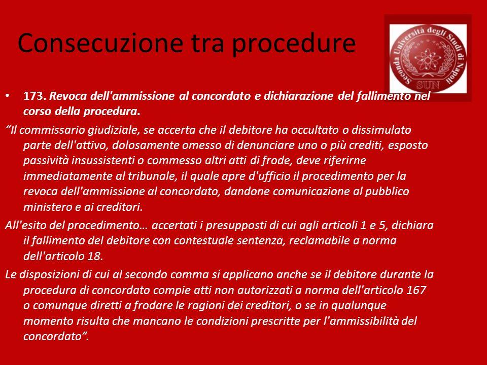Consecuzione tra procedure