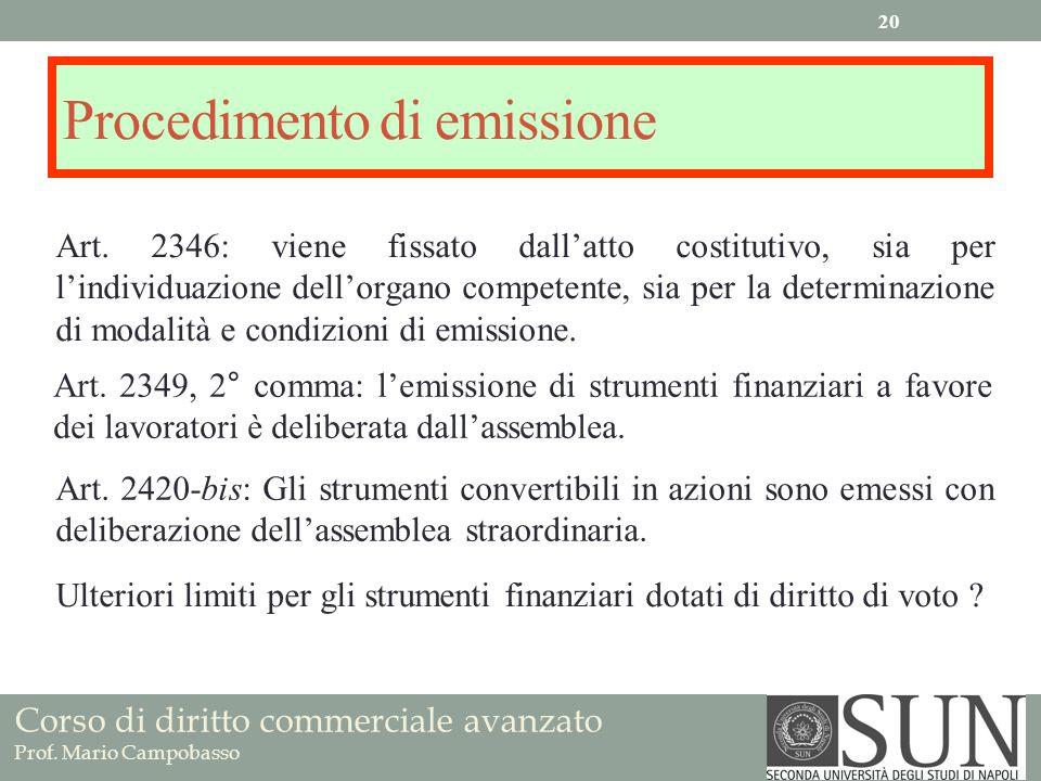 Procedimento di emissione