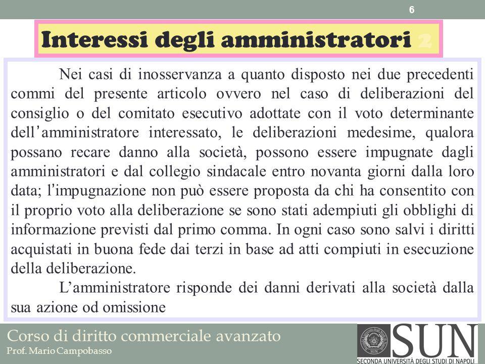 Interessi degli amministratori 2