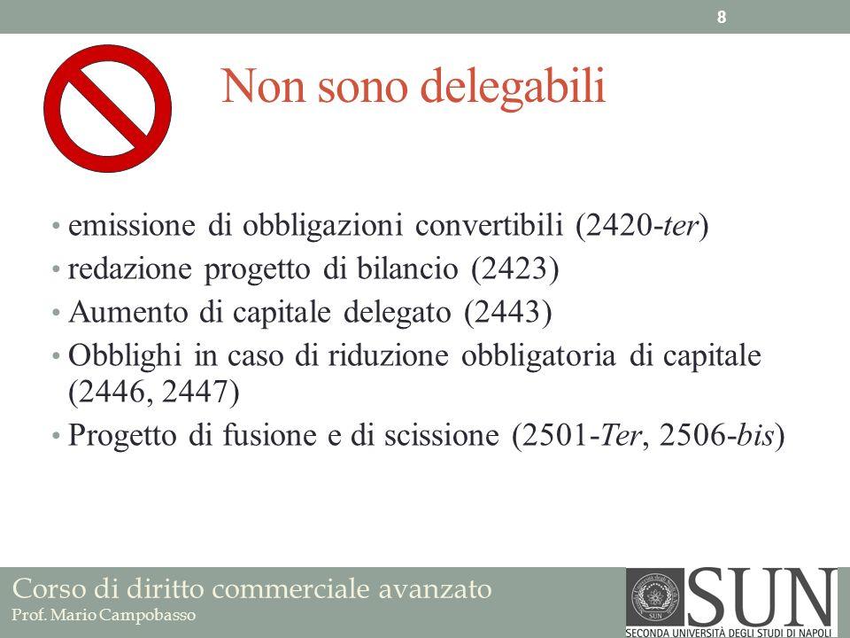 Non sono delegabili emissione di obbligazioni convertibili (2420-ter)