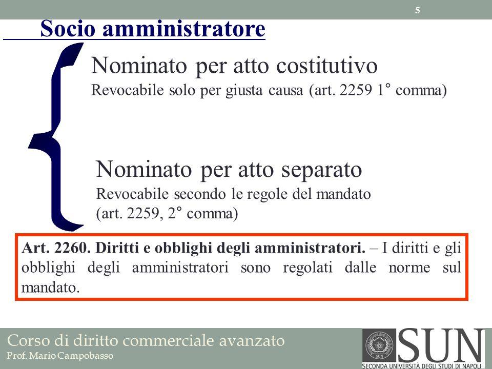 Nominato per atto costitutivo
