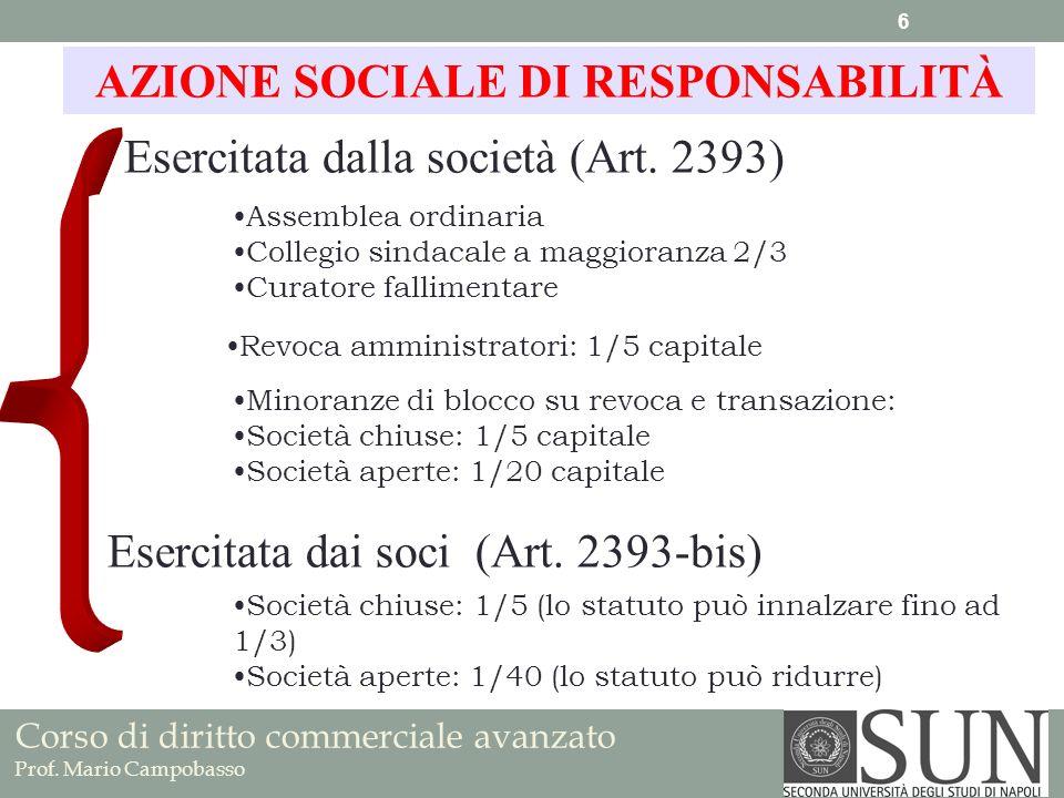 AZIONE SOCIALE DI RESPONSABILITÀ