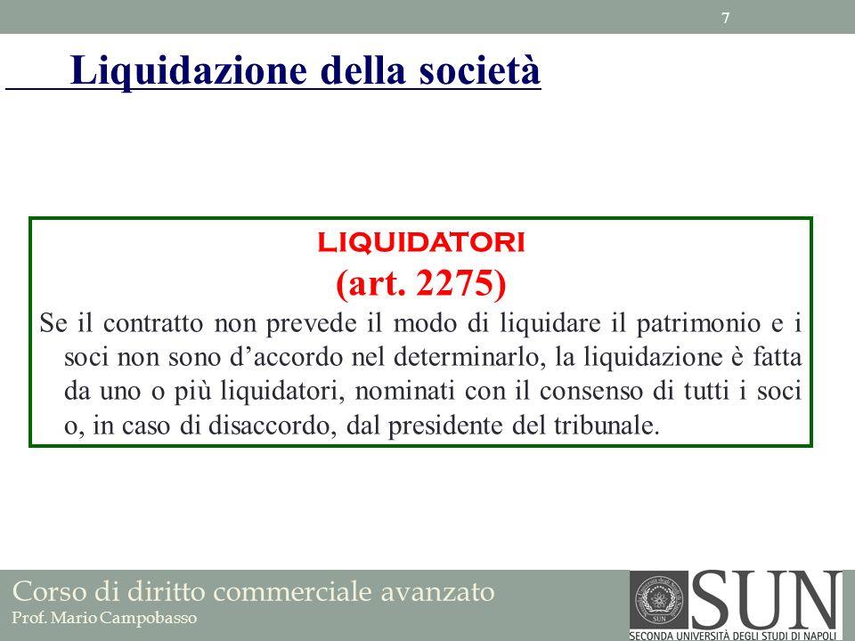 Liquidazione della società