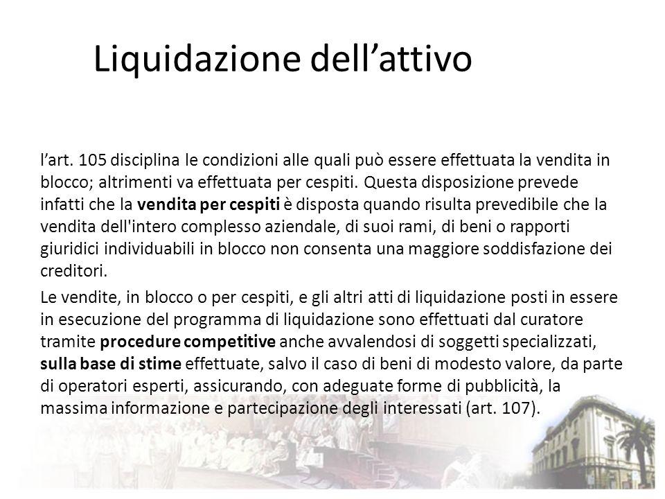 Liquidazione dell'attivo