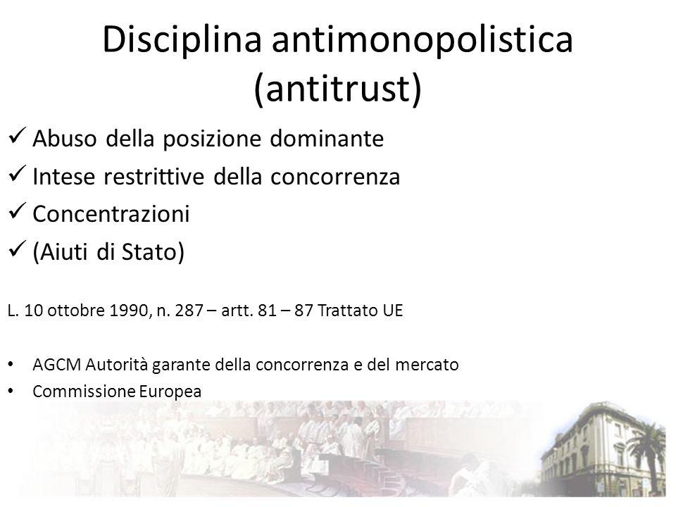 Disciplina antimonopolistica (antitrust)