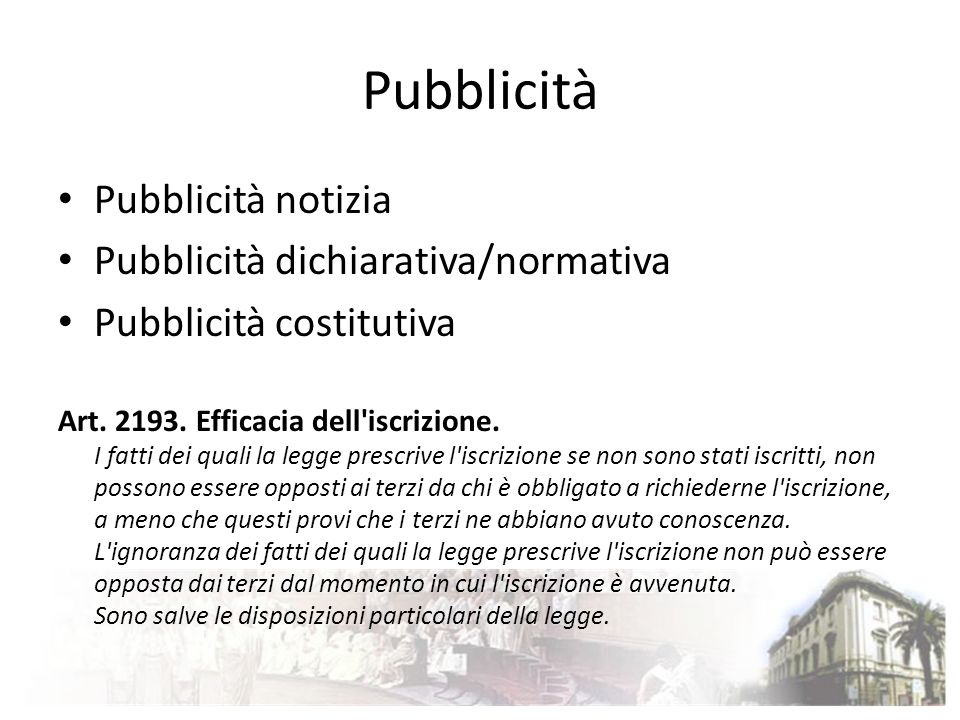 Pubblicità Pubblicità notizia Pubblicità dichiarativa/normativa