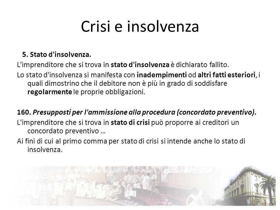Crisi e insolvenza