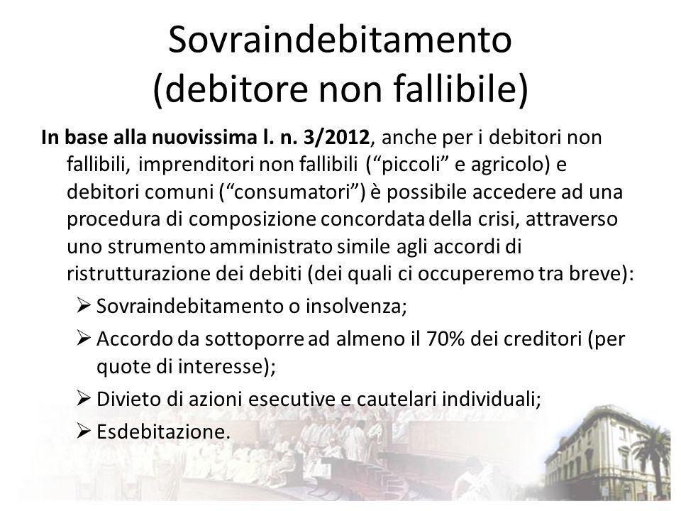 Sovraindebitamento (debitore non fallibile)