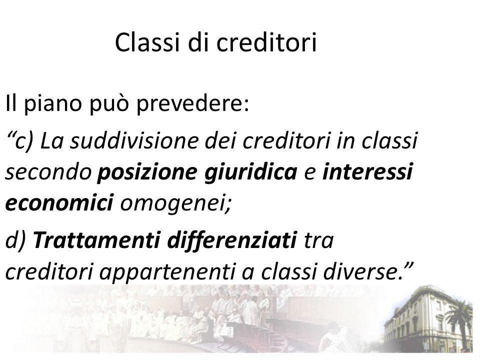 Classi di creditori