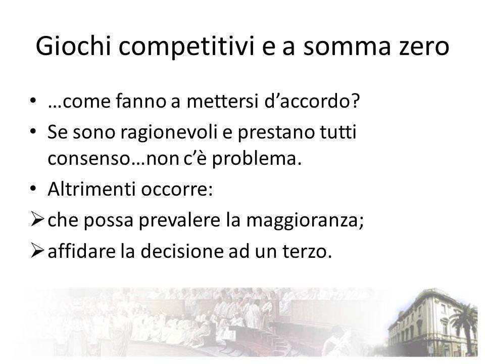 Giochi competitivi e a somma zero