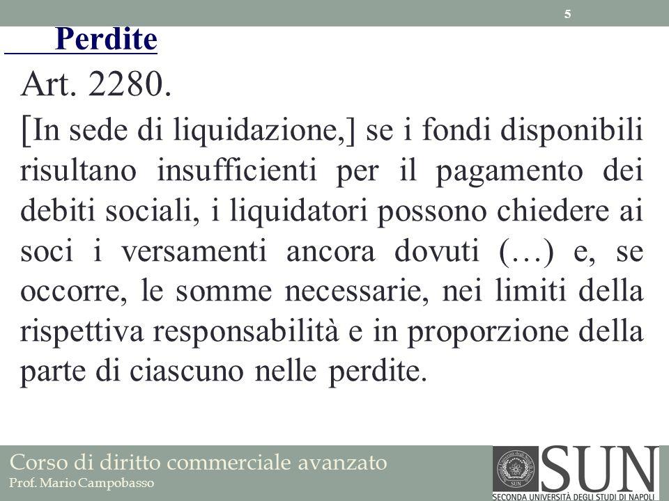 Perdite Art. 2280.