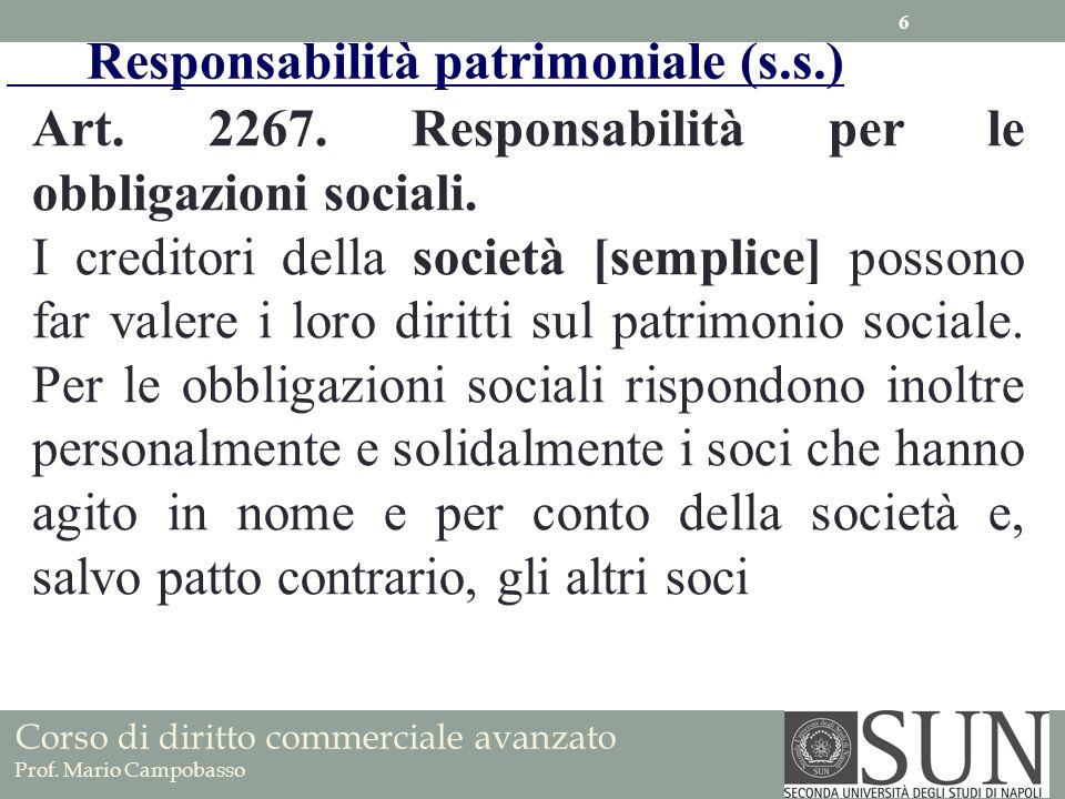 Responsabilità patrimoniale (s.s.)