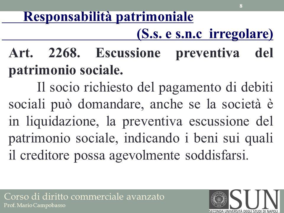 Responsabilità patrimoniale (S.s. e s.n.c irregolare)